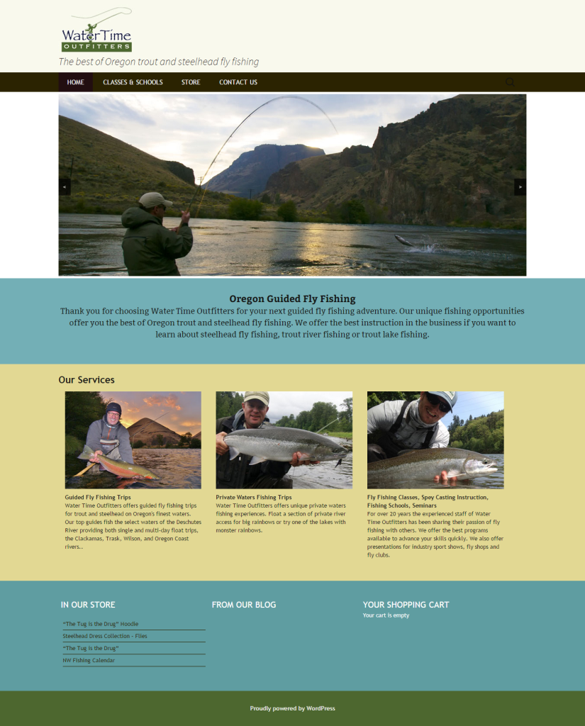 HomepageWater Time Outfitters   The best of Oregon trout and steelhead fly fishing